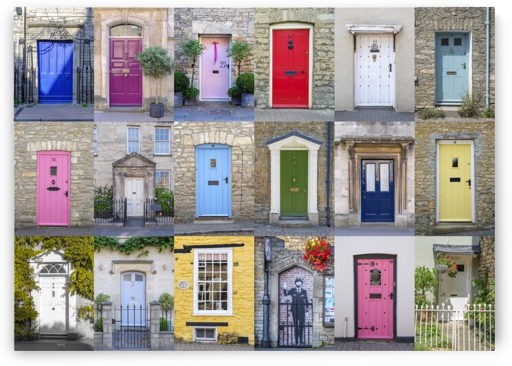 Collage of old doors, Cotswold, UK by Assaf Frank