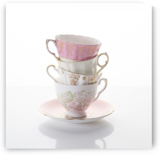 Stacked teacups by Assaf Frank