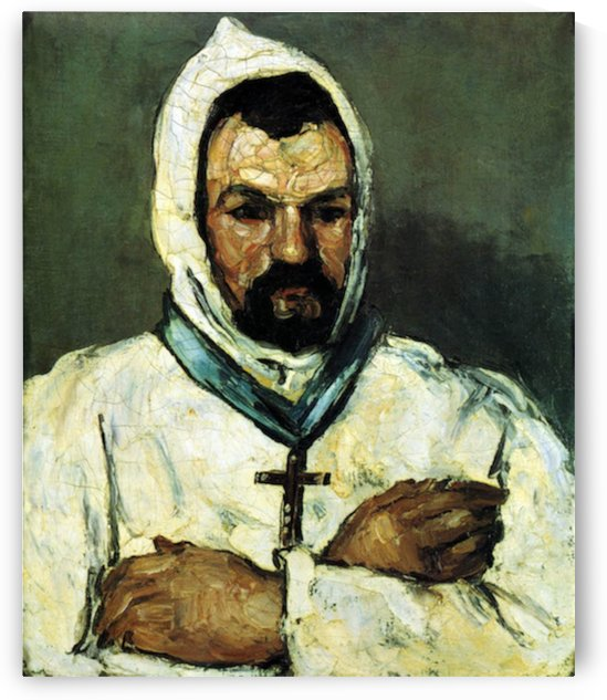 Portrait of Uncle Dominique as a monk by Cezanne by Cezanne