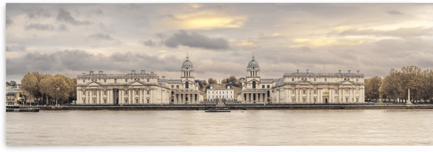 Royal Naval College at Greenwich with a view from the River Thames by Assaf Frank