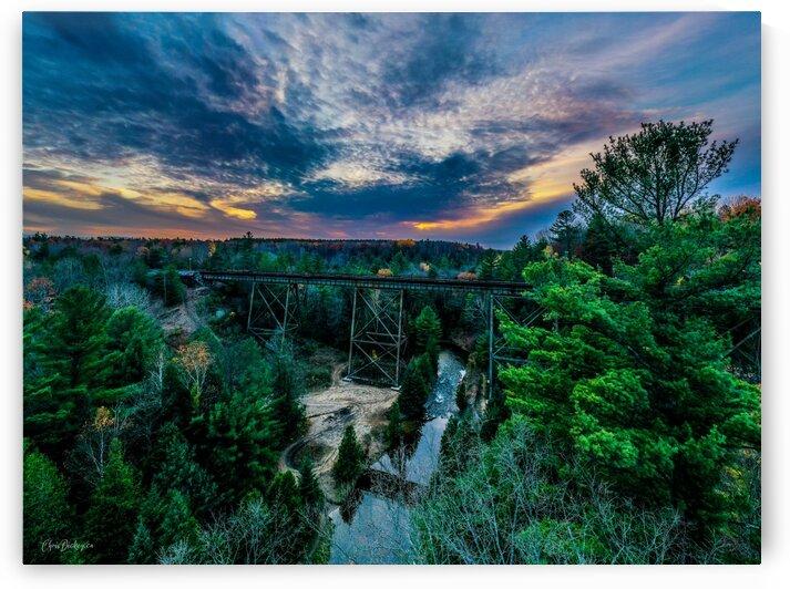 Trestle Tracks Sunset by Chris Dickey