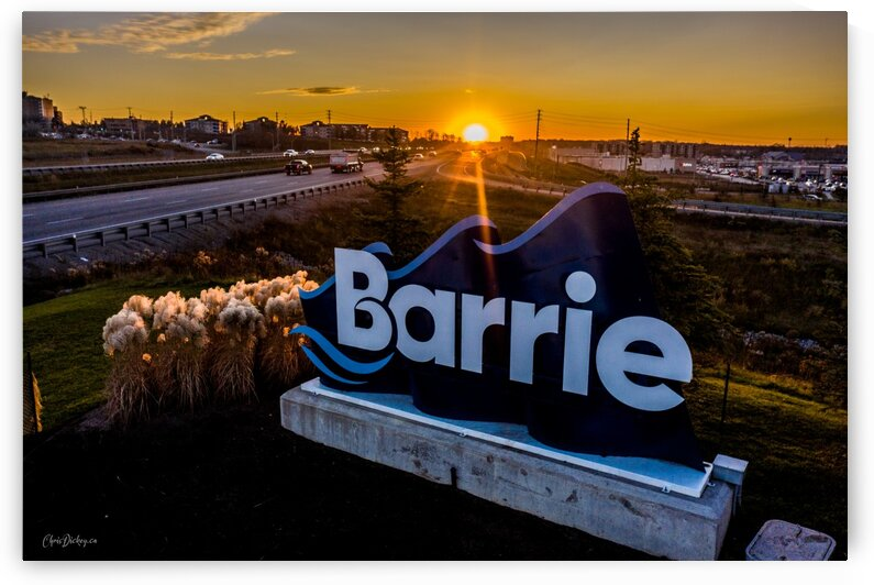 Welcome to Barrie Sunset by Chris Dickey