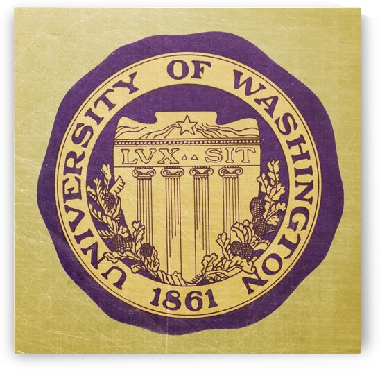 Vintage University of Washington Art by Row One Brand
