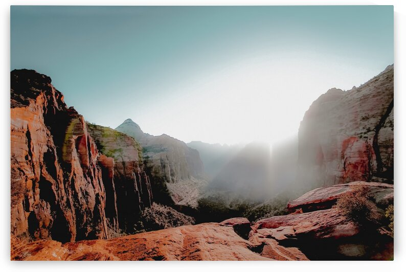 Mountain view with summer sky at Zion national park Utah USA by TimmyLA