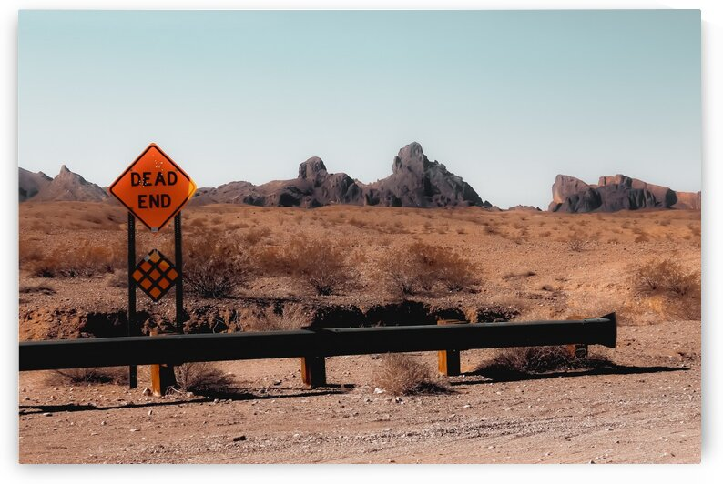Summer road trip in the desert with mountains view in USA by TimmyLA
