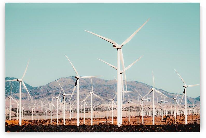 Wind turbine in the desert at Kern County California USA by TimmyLA