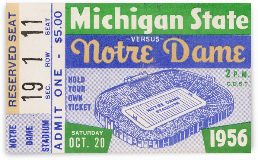 1956 Michigan State vs. Notre Dame by Row One Brand