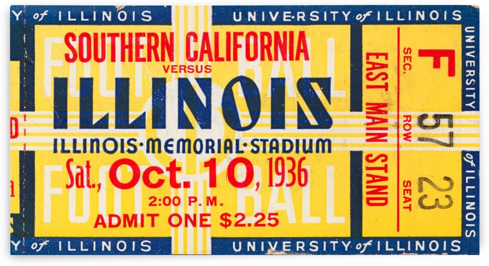 1936 USC vs. Illinois by Row One Brand