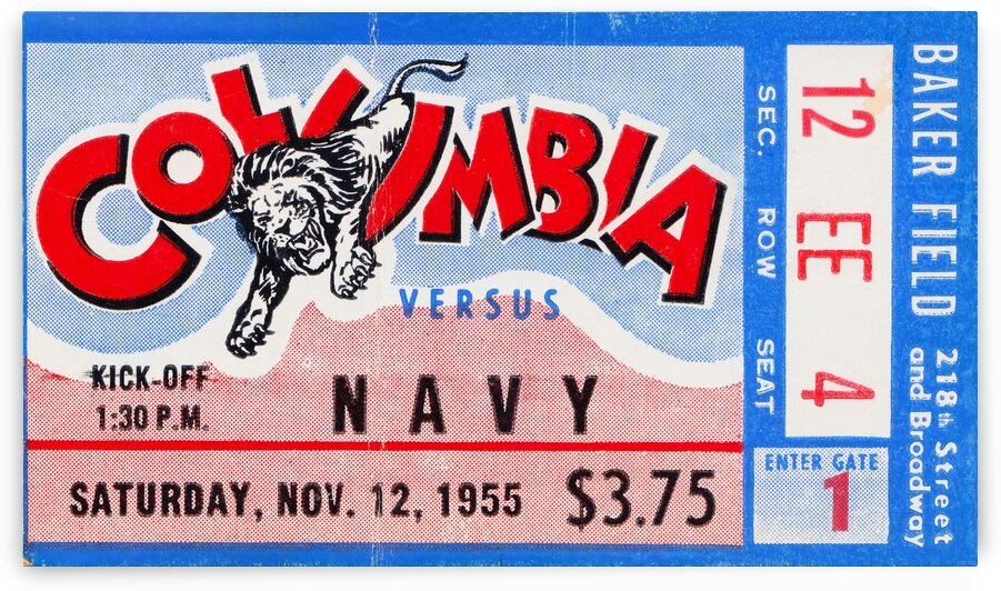 1955 Columbia vs. Navy by Row One Brand