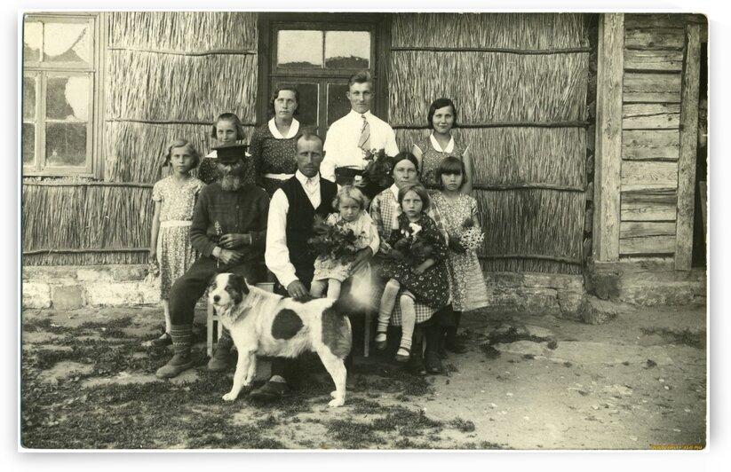 retro vintage family kids home dog vintage by d9Id9I vanya