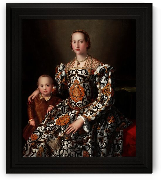 Eleonora of Toledo and Her Son by Agnolo Bronzino Classical Art Old Masters Reproduction by xzendor7