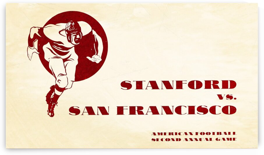 1933 Stanford vs. San Francisco American Football by Row One Brand