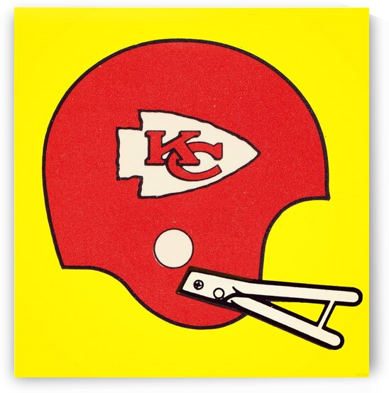 1982 Kansas City Chiefs Helmet Art by Row One Brand