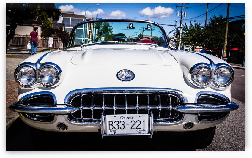 Early Chevrolet Corvette Grille by bj clayden photography
