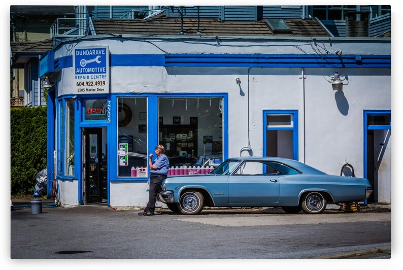 Classic Blue Chevelle Super Sport by bj clayden photography