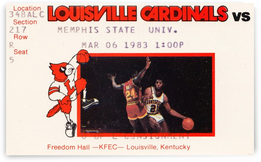 1983 Memphis State vs. Louisville by Row One Brand