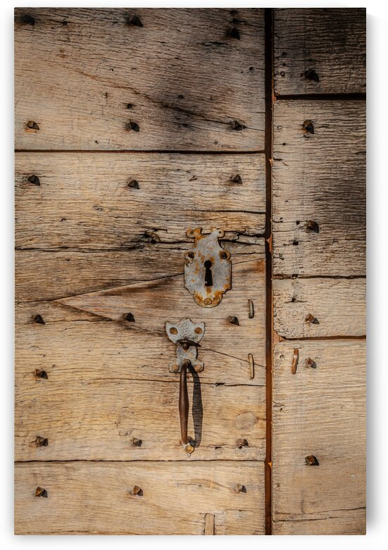 Ancient Wooden Door with Keyhole by bj clayden photography