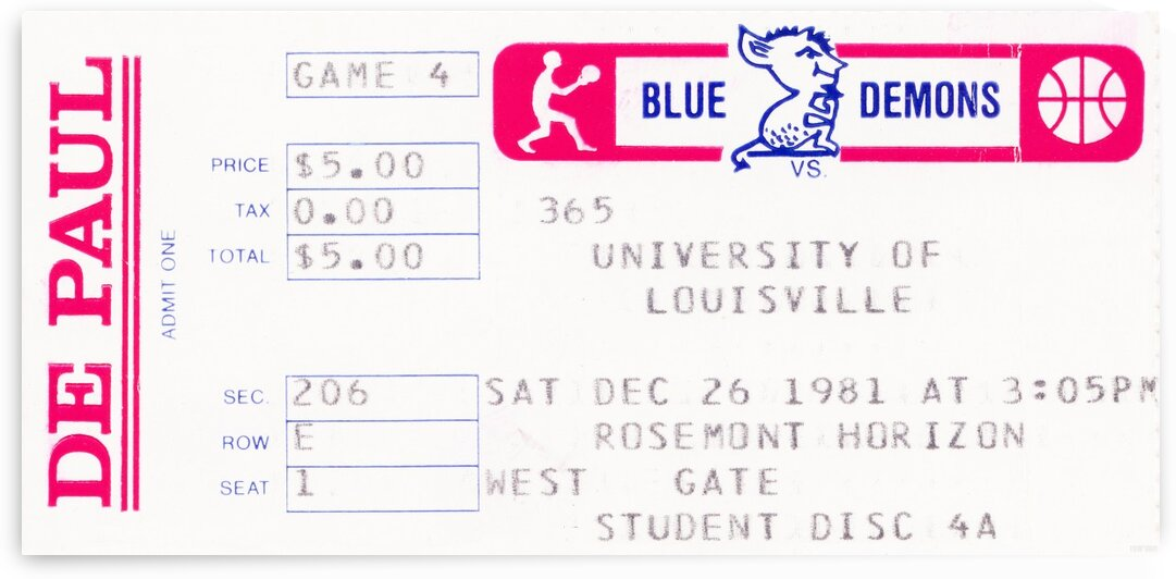 1981 DePaul vs. Louisville by Row One Brand