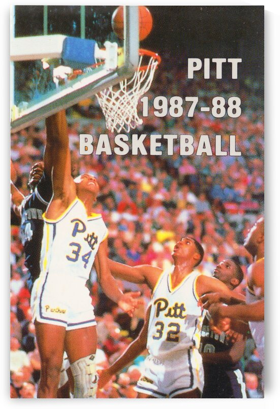 1987 Pitt Panthers Basketball by Row One Brand