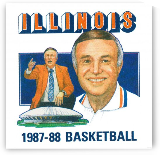 1987 Illinois Basketball Lou Henson by Row One Brand