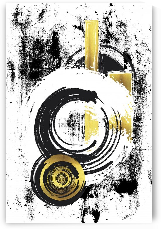 Abstract Painting No. 33 | gold  by Melanie Viola