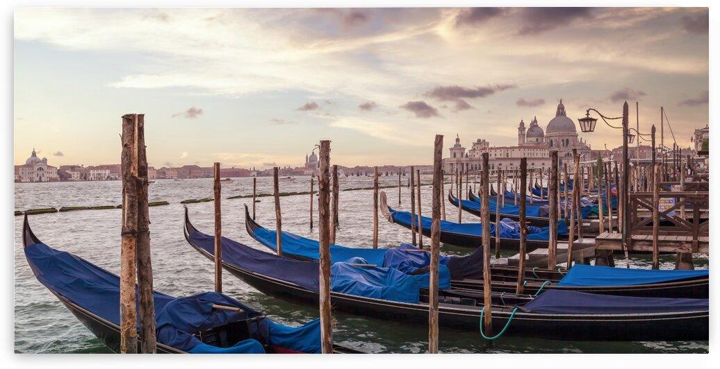 VENICE Gondolas & Santa Maria della Salute | Panorama by Melanie Viola