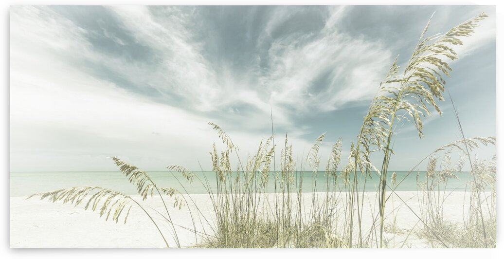 Heavenly calmness on the beach | Panoramic Vintage by Melanie Viola