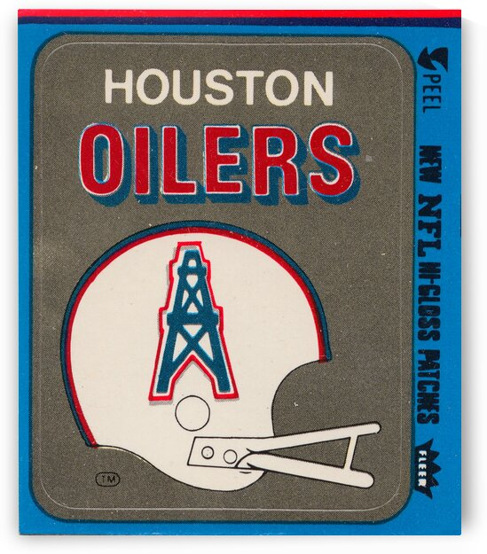 1981 Houston Oilers Helmet by Row One Brand