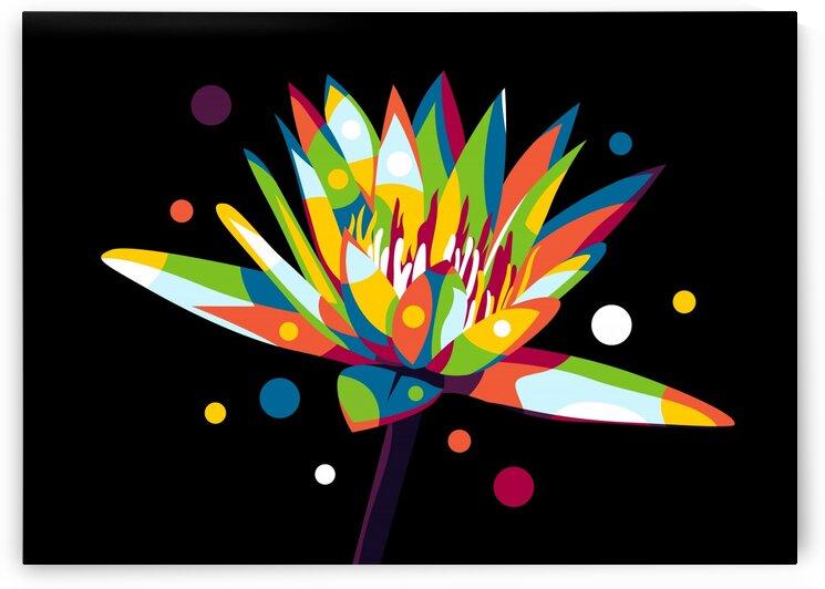 Lotus Flower in Pop Art by wpaprint