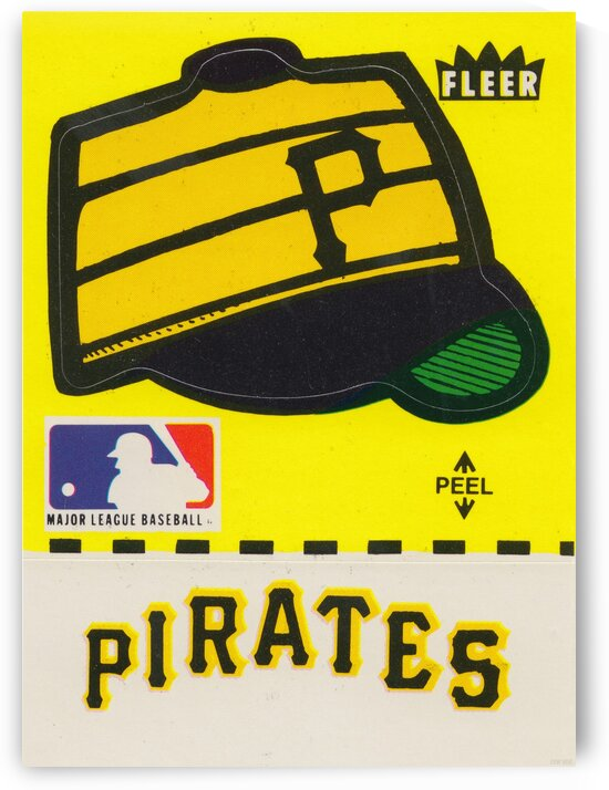 1981 Pittsburgh Pirate Fleer Decal Art by Row One Brand