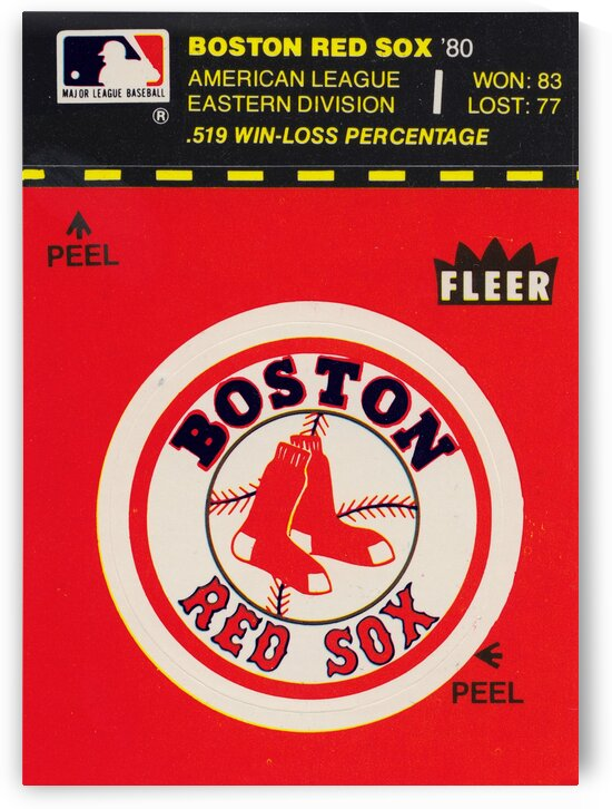 1981 Boston Red Sox Fleer Decal Art by Row One Brand