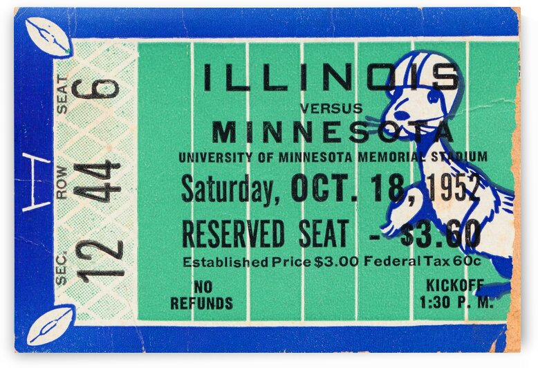 1952 Minnesota vs. Illinois by Row One Brand