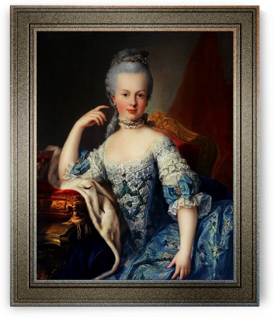 Maria Antoniette of Austria by Martin van Meytens Classical Fine Art Old Masters Reproduction by xzendor7