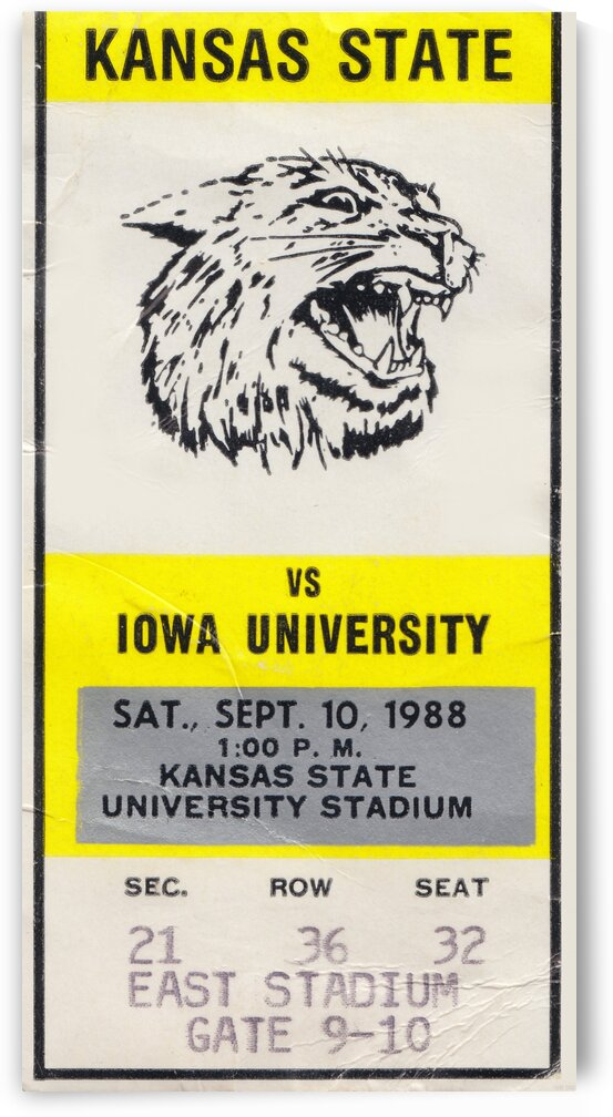 1988 Kansas State vs. Iowa by Row One Brand