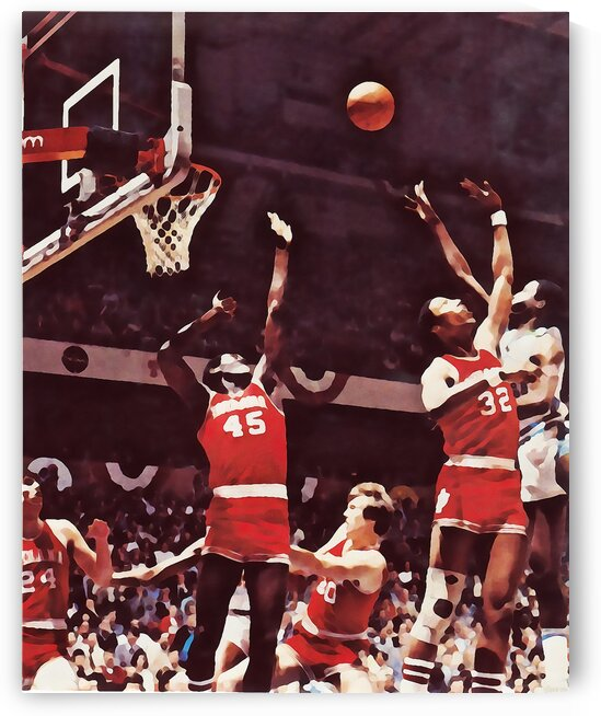 1981 Indiana Basketball Art by Row One Brand