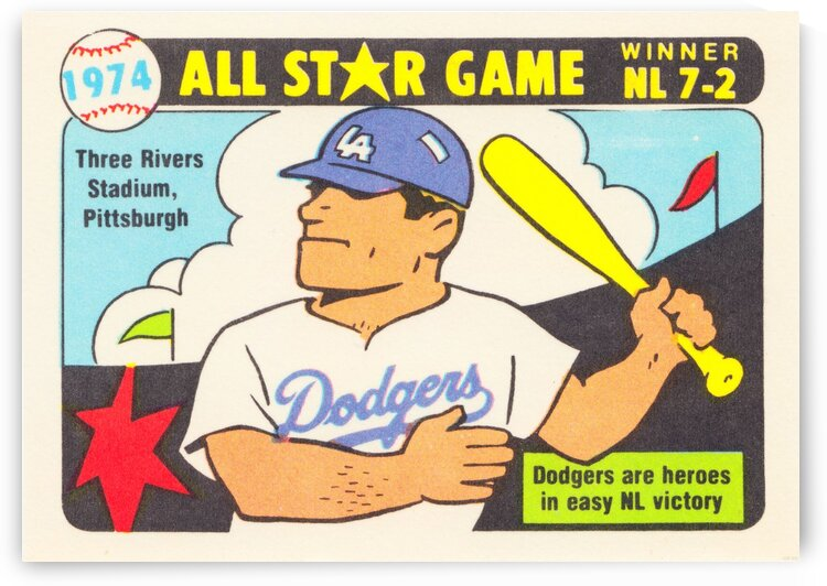 1974 Baseball All-Star Game by Row One Brand