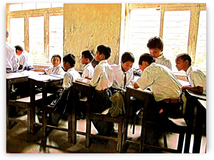 EXCITED ABOUT LEARNING - Nepal by Robert David Concienne
