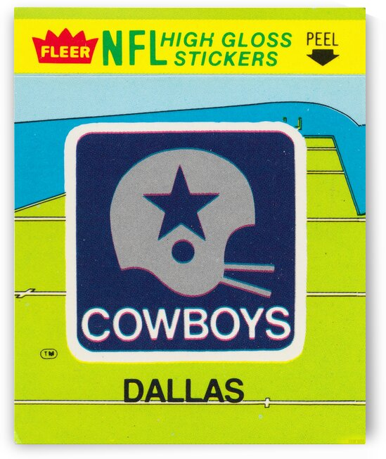 1981 Dallas Cowboys Fleer Decal Art by Row One Brand