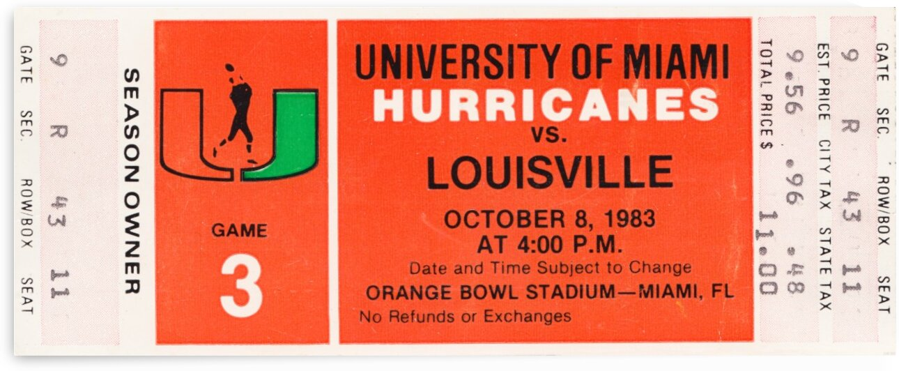 1983 Miami vs. Louisville by Row One Brand