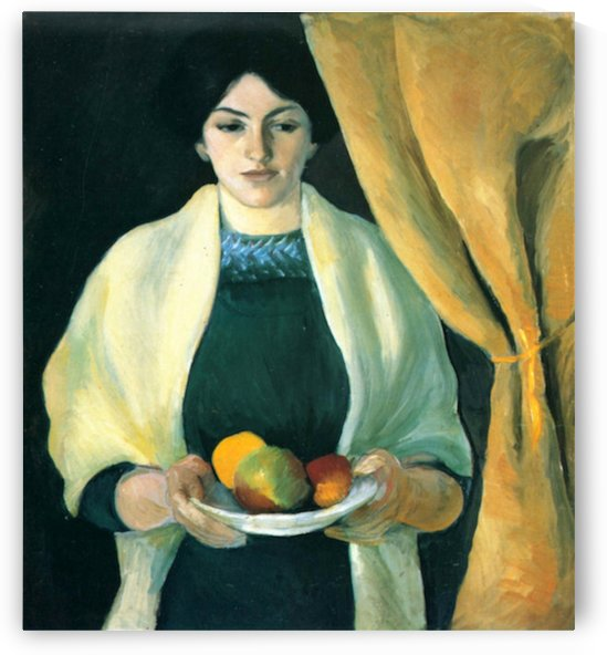 Portrait with apples (portrait of the wife of the artist) by Macke by Macke