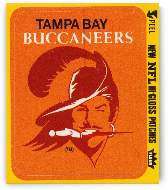 1981 Tampa Bay Buccaneers Fleer Art by Row One Brand