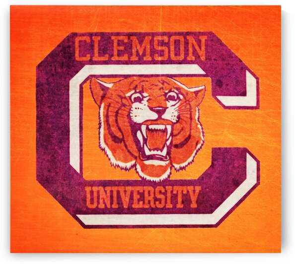 Vintage Clemson Tiger C by Row One Brand