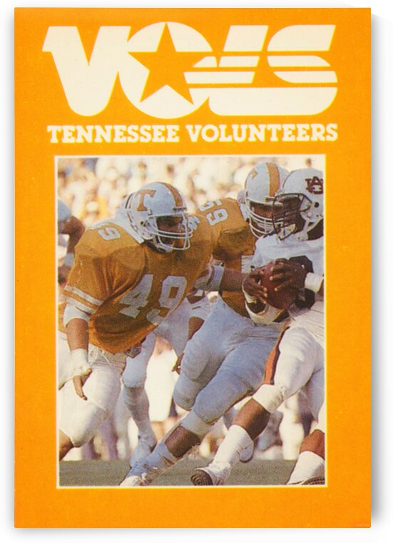 1986 Tennessee Vols Football Poster by Row One Brand