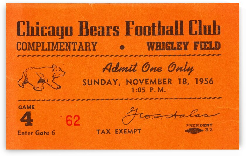 1956 Chicago Bears vs. Rams by Row One Brand