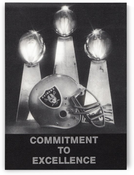 1986 Los Angeles Raiders Poster by Row One Brand