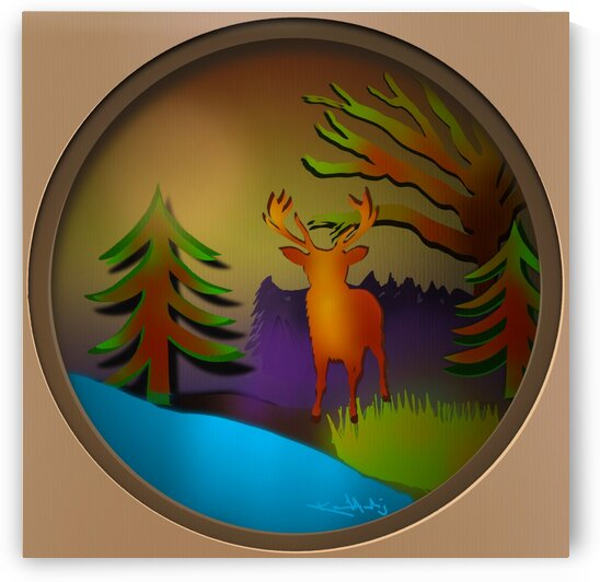Forest paper cut art by KJHArt