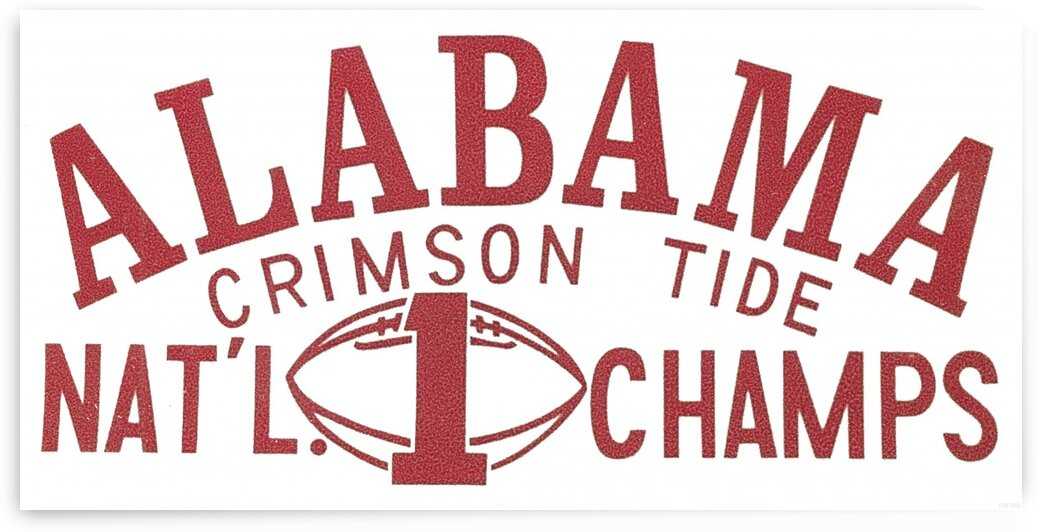 1964 Alabama National Champs Art by Row One Brand