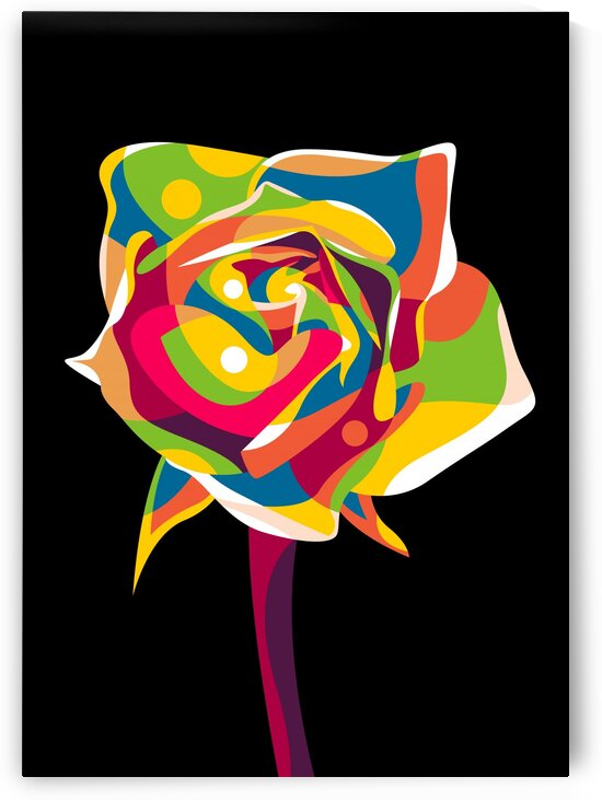 Colorful Rose Flower by wpaprint