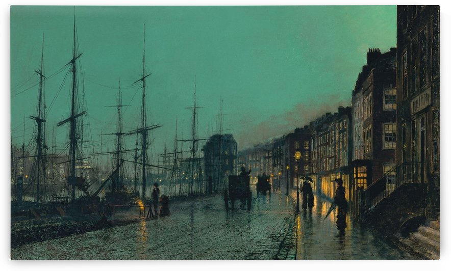 Shipping on the Clyde, 1881 by John Atkinson Grimshaw