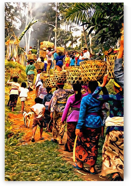 Funeral Feast Procession Bali by Dorothy Berry-Lound